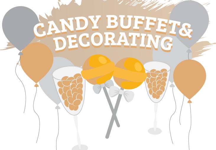 candy buffet and decorating