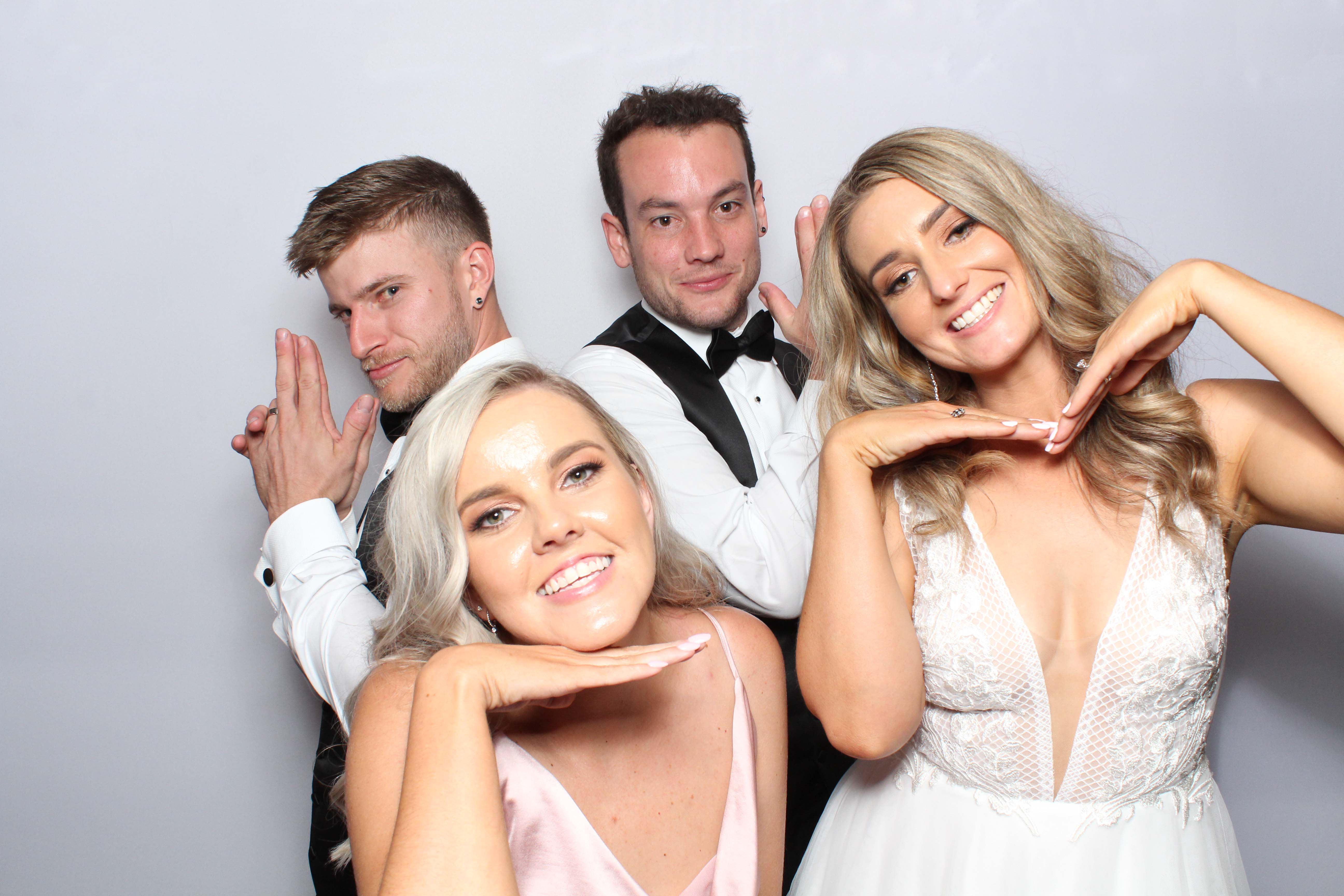 White backdrop for Photo booth
